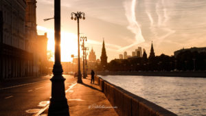 Moscou coucher du soleil