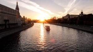 coucher de soleil Moscou