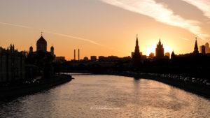 coucher de soleil Moskva