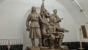 Statue métro de Moscou
