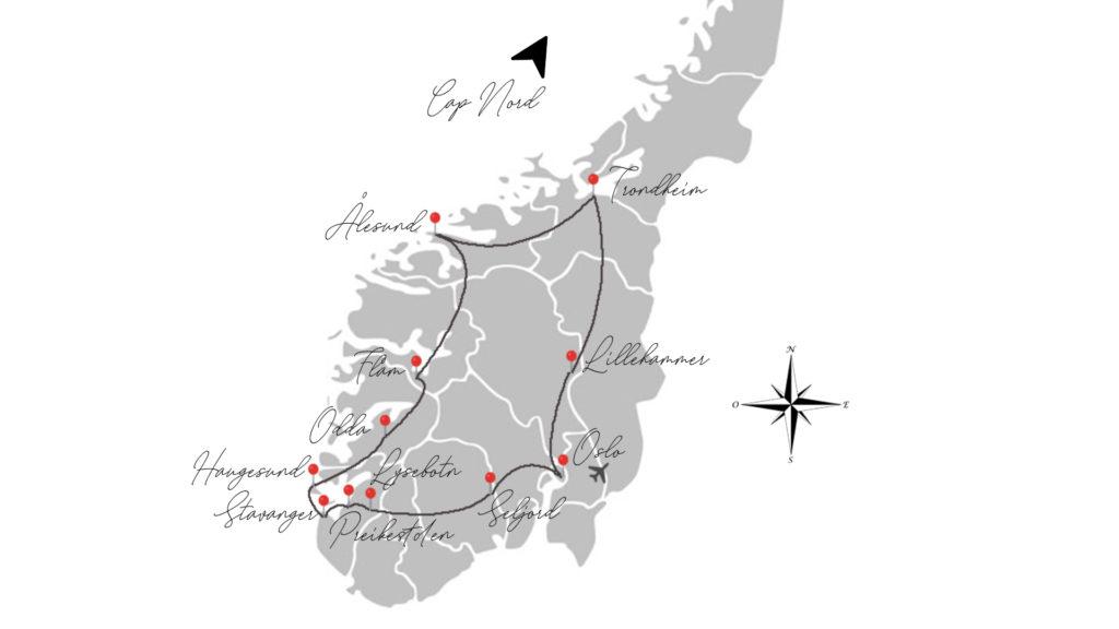 itinéraire road trip norvège