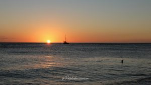 coucher de soleil le carbet